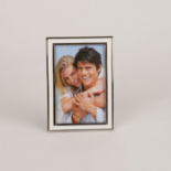 Artamis Photo Frame White Resin Nickel